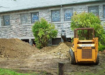 Soil Excavation from Church