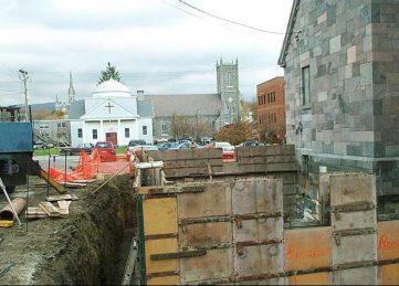 New Church Entrance Foundation Rutland