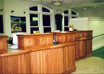 Bank Teller Desks Interior